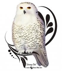 Snowy Owl Sitting